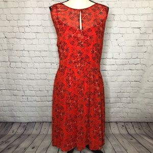 TORRID orange/floral print sleeveless flowy dress